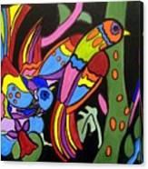 2 Tropical Birds Canvas Print