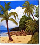 Tropical Island Beach Canvas Print
