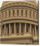 United States Capitol Building Sepia Canvas Print