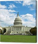 Us Capitol Washington Dc Negative Canvas Print