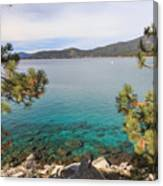 View Across Lake Tahoe Canvas Print