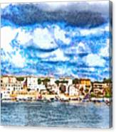 View Of Brindisi From The Ship Canvas Print