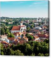 view of downtown in Vilnius city, Lithuanian Canvas Print