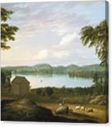 View Of Springfield On The Connecticut River Canvas Print