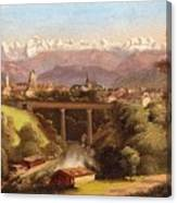 views of Bern and the Bernese Oberland Canvas Print