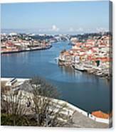 Vila Nova De Gaia And Porto In Portugal Canvas Print