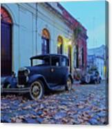 Vintage Cars In Colonia Del Sacramento, Uruguay Canvas Print