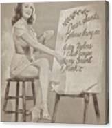 Vintage Pinup Canvas Print