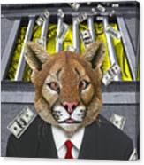 Wall Street Predator Canvas Print