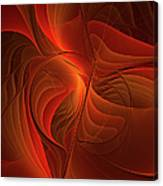 Warmth, Modern Abstract Fractal Art Canvas Print