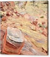 Wash 3 Color In Valley Of Fire Canvas Print