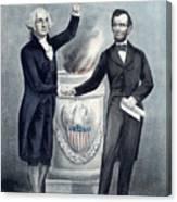Washington And Lincoln Canvas Print