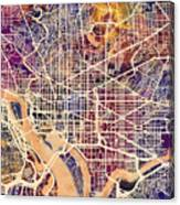 Washington Dc Street Map Canvas Print