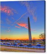 Washington Monument Sunset Canvas Print