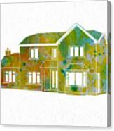Watercolor House Canvas Print