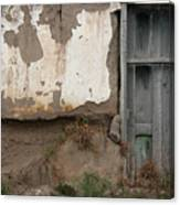 Weathered Door In A Wall Canvas Print