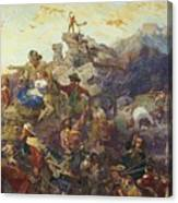 Westward The Course Of Empire Takes Its Way Canvas Print