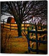 Winding Fence Canvas Print