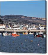 Winter Harbour - Lyme Regis Canvas Print