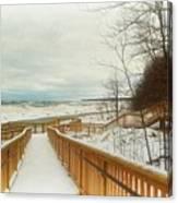 Winter Ice On Lake Michigan Canvas Print