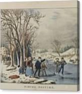 Winter Pastime Canvas Print