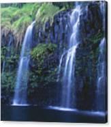 Woman At Waterfall Canvas Print