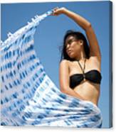 Woman In Sarong Canvas Print