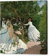 Women In The Garden Canvas Print