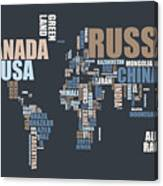 World map in words canvas print canvas art by michael tompsett world map in words canvas print gumiabroncs Gallery