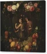 Wreath With Value And Abundance Canvas Print