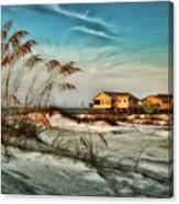2 Yellow  Beach Houses At Mobile Street Canvas Print