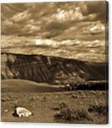 Yellowstone Sky Canvas Print