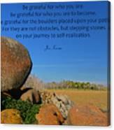 20- Be Grateful Canvas Print