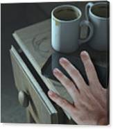 Bedside Table And Cellphone Canvas Print