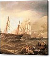 Miller Charles Henry Shipping Off Gibraltar Charles Henry Miller Canvas Print