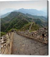 The Mutianyu Section Of The Great Wall Of China, Mutianyu Valley Canvas Print