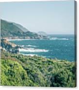 Western Usa Pacific Coast In California Canvas Print