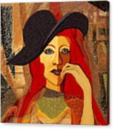 200 - Woman With Black Hat .... Canvas Print