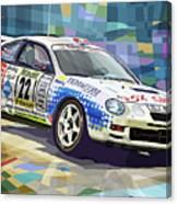 2002 Slovnaft Valasska Rally Toyota Celica Gt Four Liska Jugas  Canvas Print