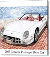 2003 Corvette Prototype Canvas Print