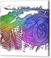 2007 Harley C 01 Cool Rainbow 3 Dimensional Canvas Print