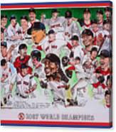 2007 World Series Champions Canvas Print