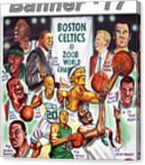 2008 Boston Celtics Team Poster Canvas Print