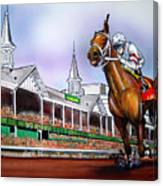 2008 Kentucky Derby Winner Big Brown Canvas Print