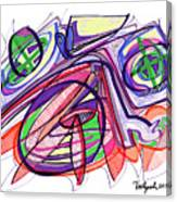 2010 Abstract Drawing Eleven Canvas Print