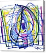 2010 Abstract Drawing Nineteen Canvas Print