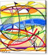 2010 Abstract Drawing Sixteen Canvas Print