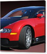 2010 Bugatti Veyron E. B. Sixteen Canvas Print
