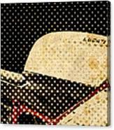 2010 Ducati 1198s Big Newspaper Dots Canvas Print