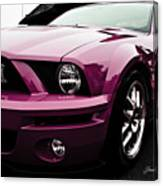 2010 Pink Ford Cobra Mustang Gt 500 Canvas Print